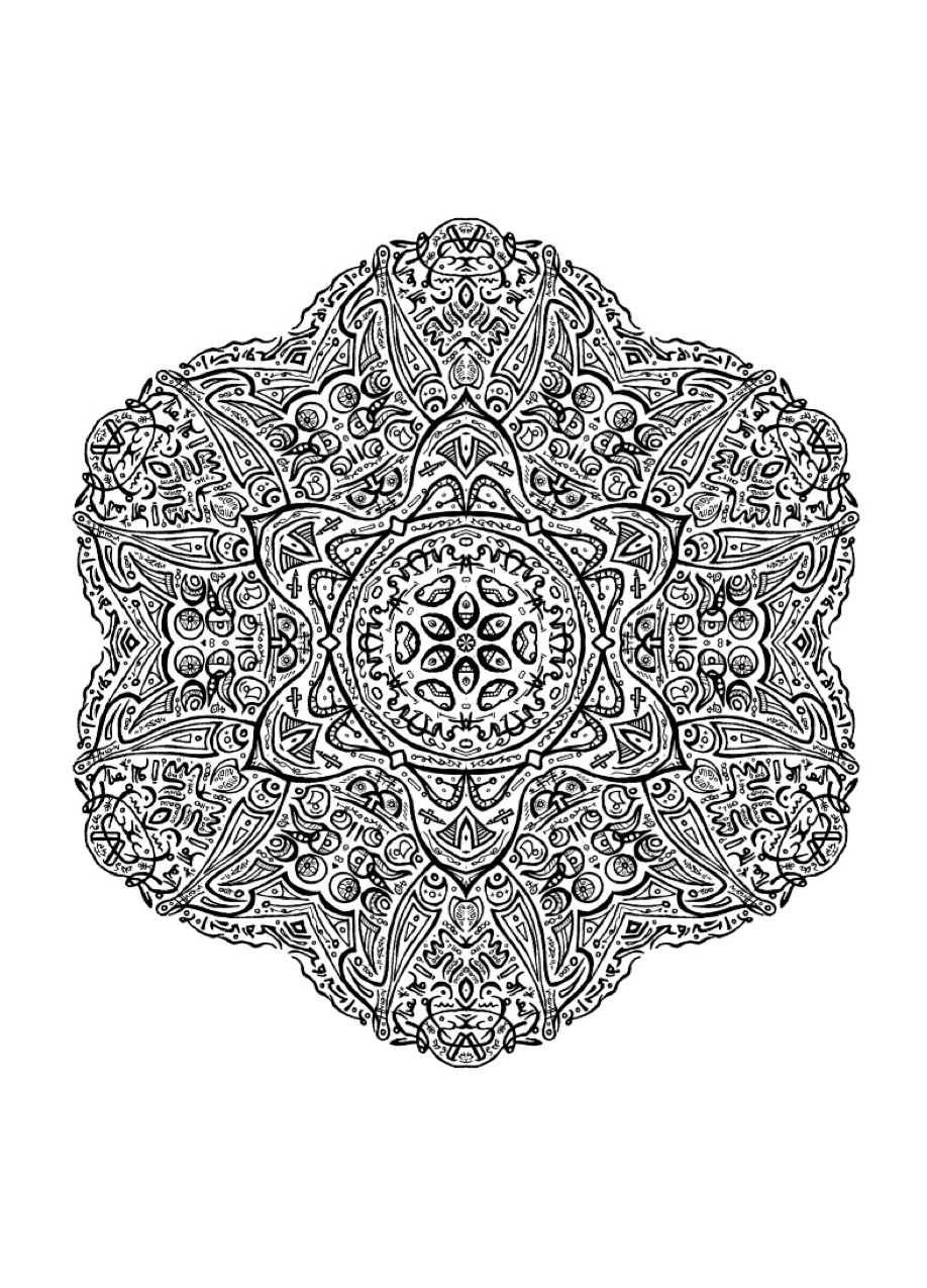 Complex And Curious Mandala M Amp Alas Adult Coloring Pages