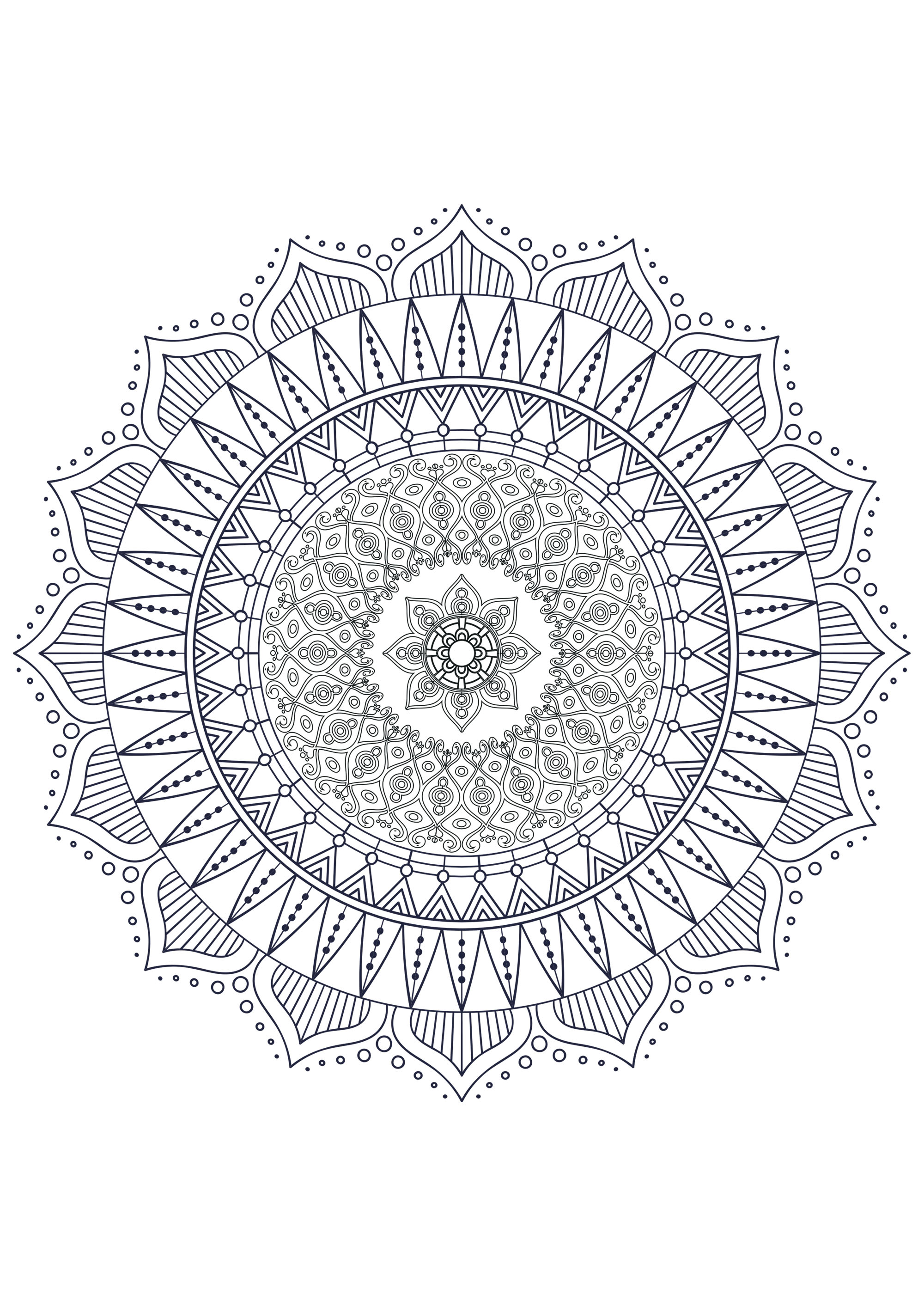 Zen & Anti-Stress Mandala - 7