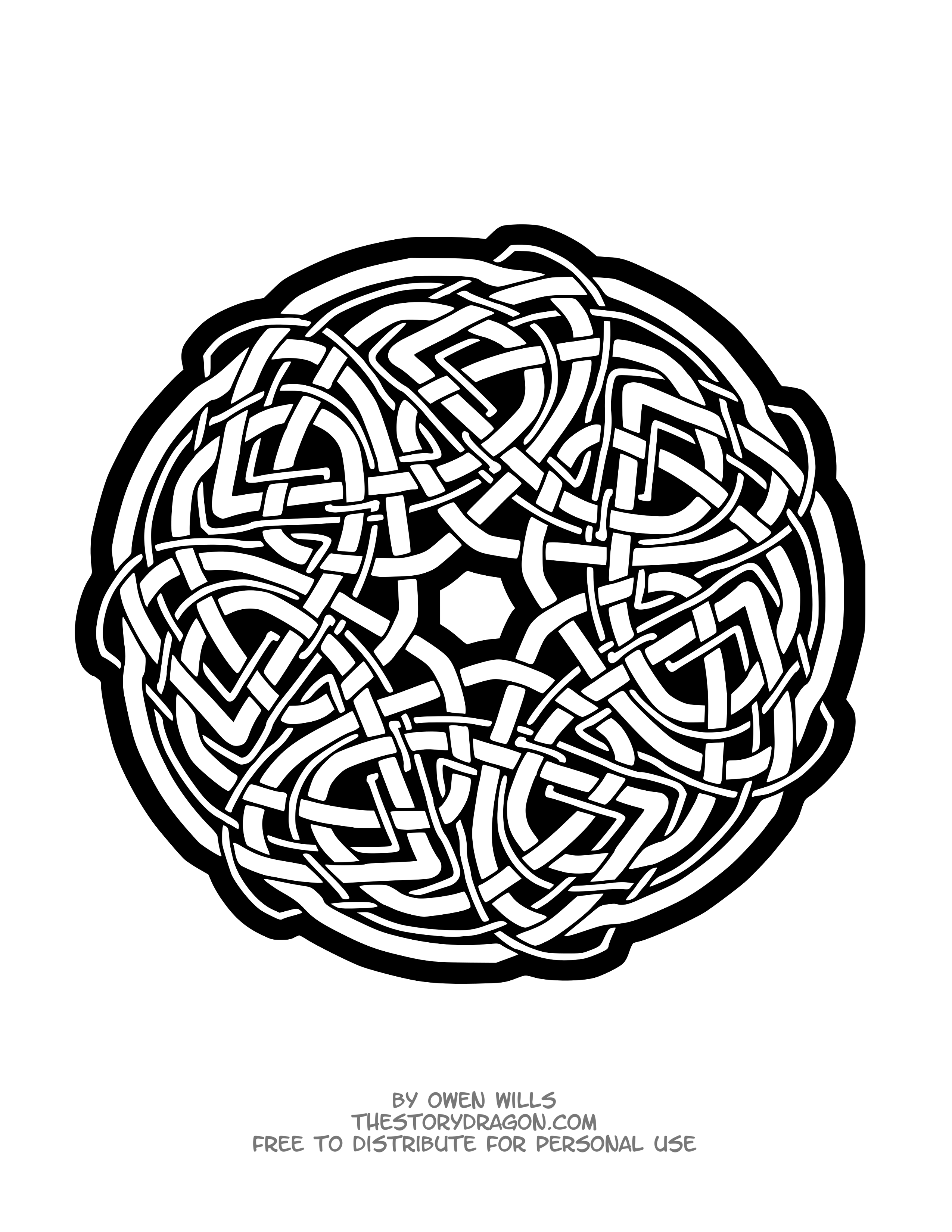 Mandala inspired by Celtic style
