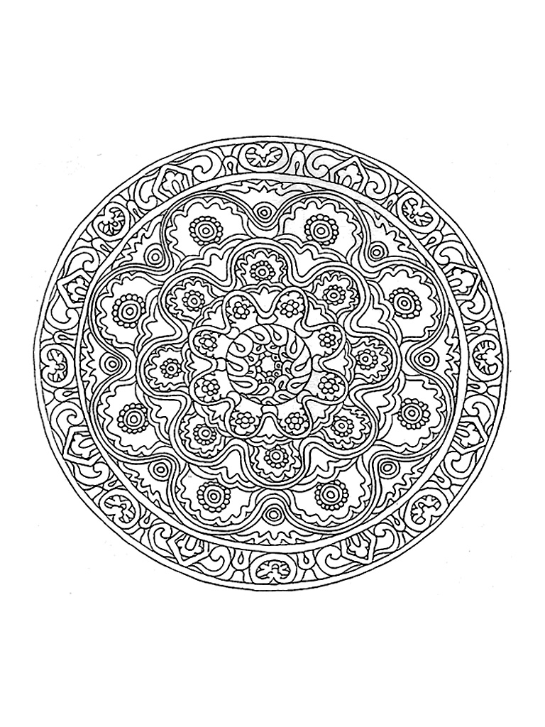 Quite difficult coloring by its great wealth, this Mandala will give you a hard time!