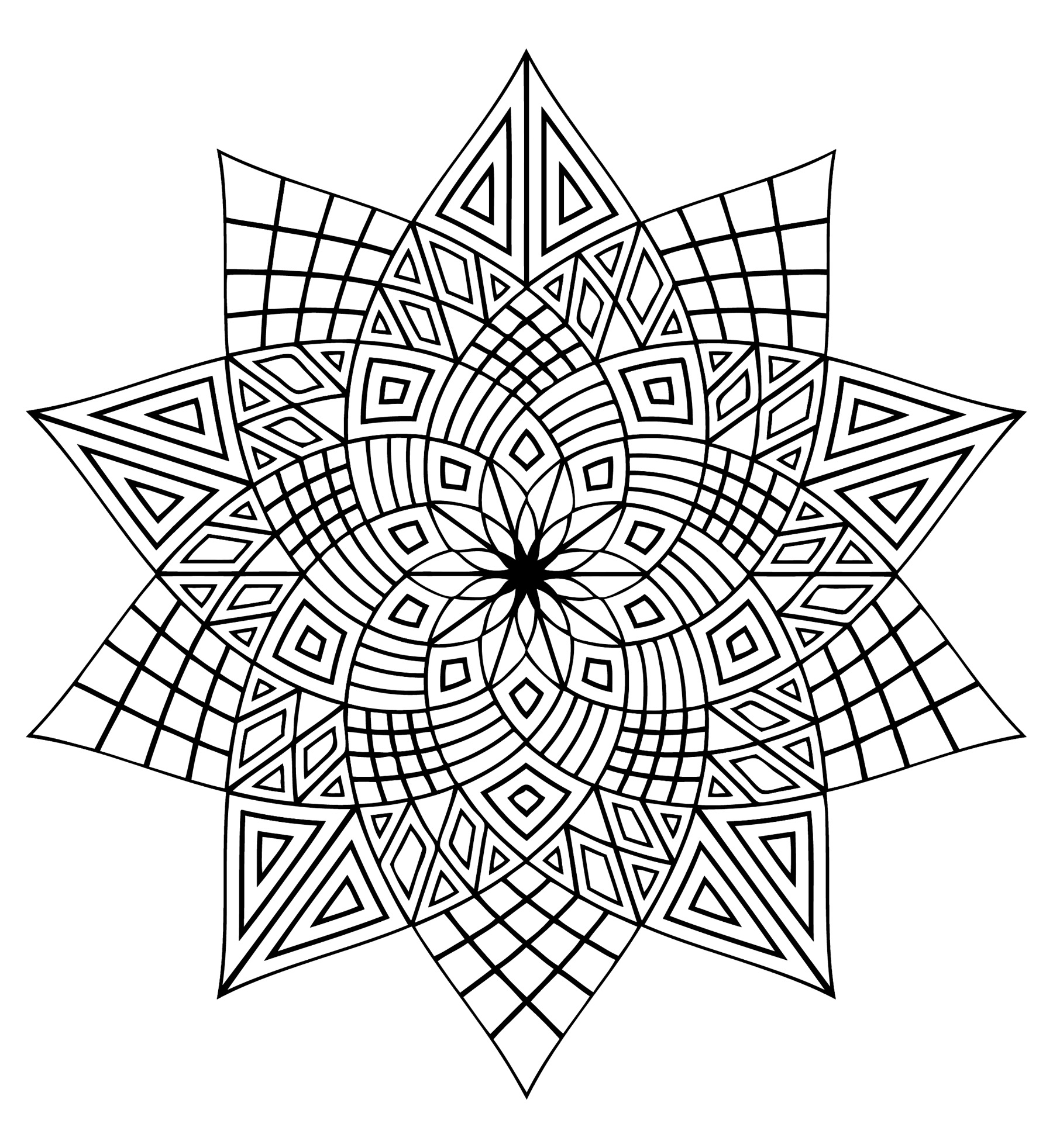 Mandala 3 M Alas Adult Coloring Pages
