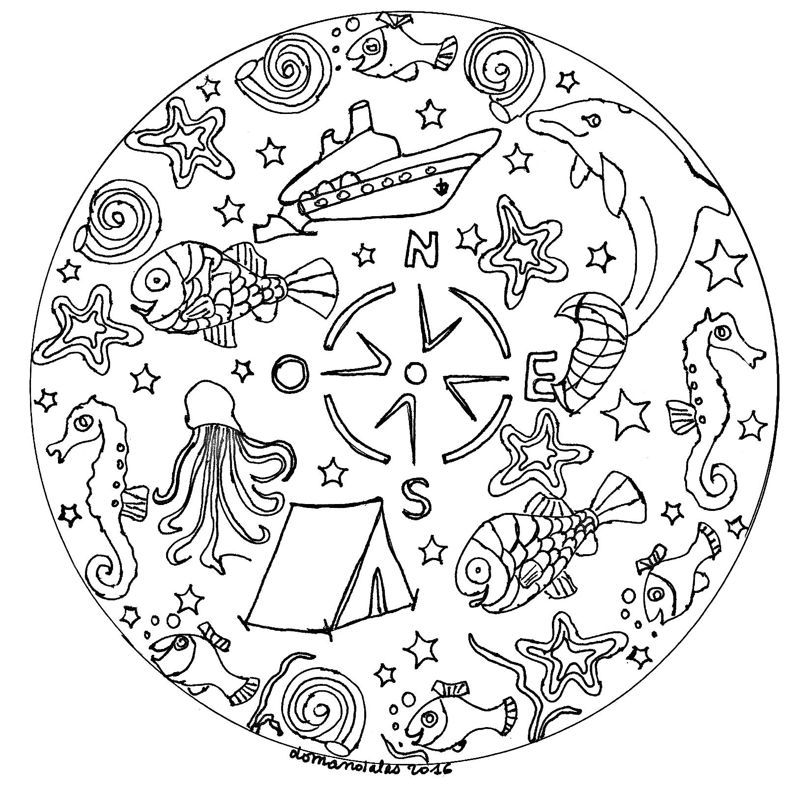 Mandala lion  Coloring pages for adults  JustColor