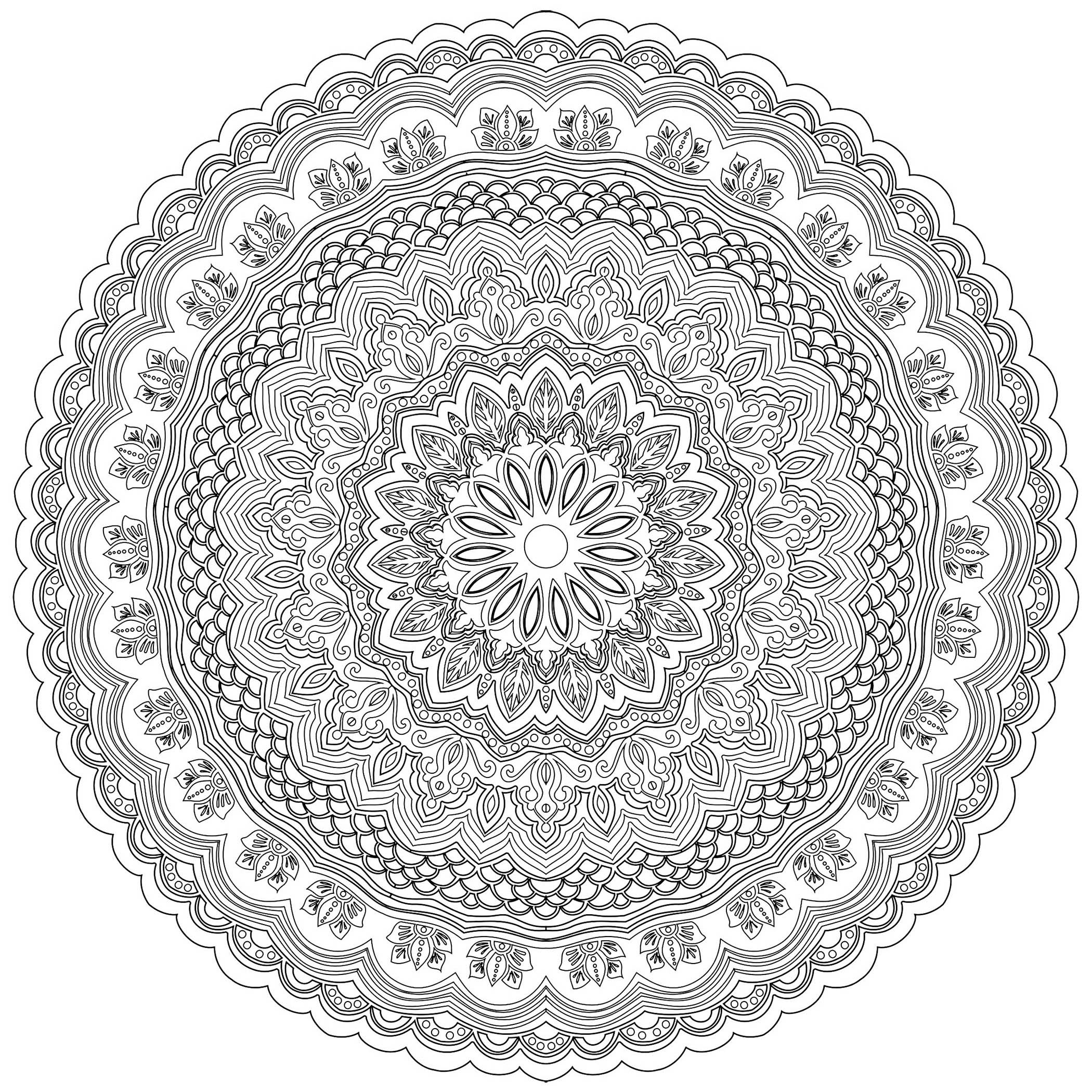 Zen & Anti-Stress Mandala - 10