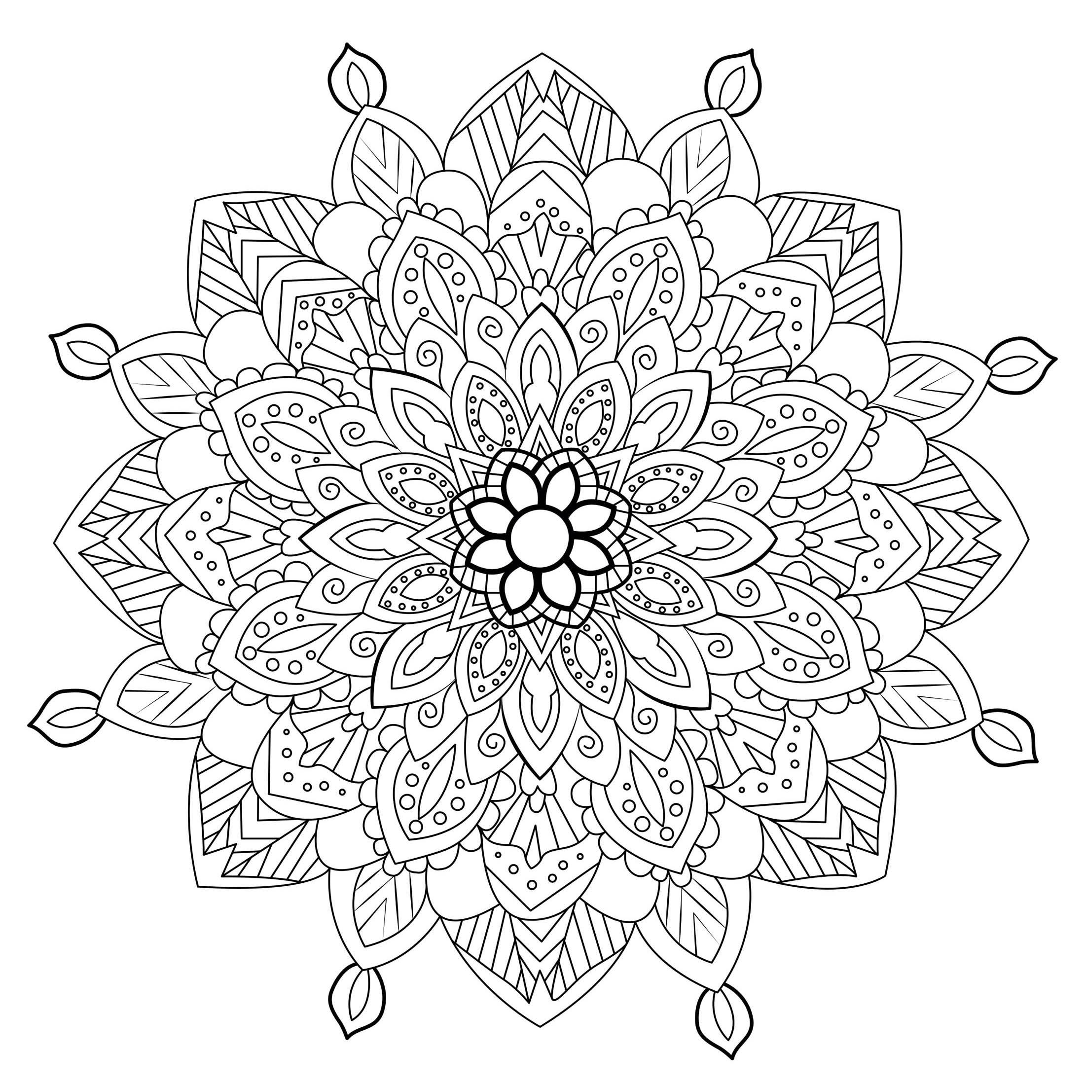 Zen & Anti stress Mandala 3 - M&alas Adult Coloring Pages