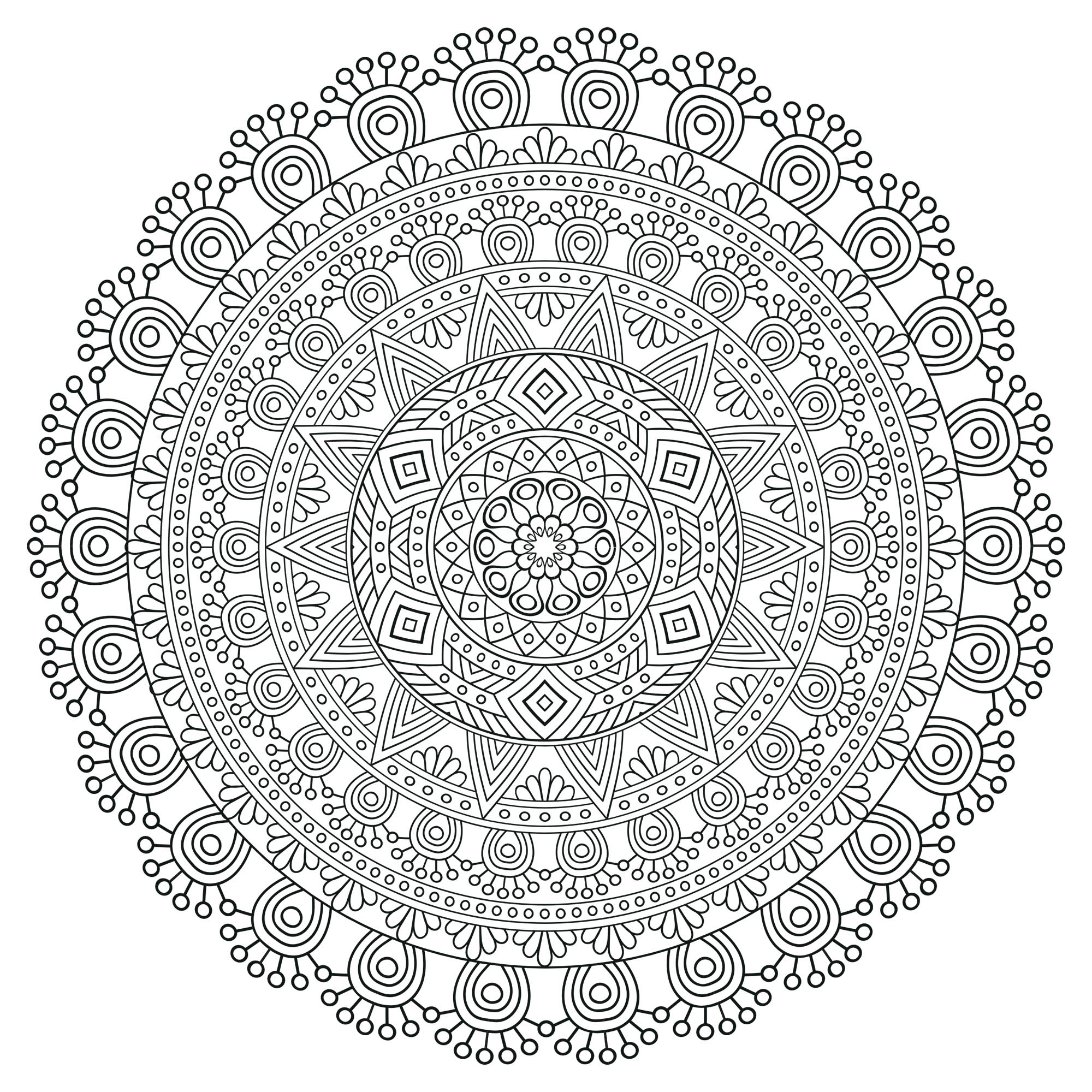 Coloring Mandala Zen Antistress 5 Anti Stress