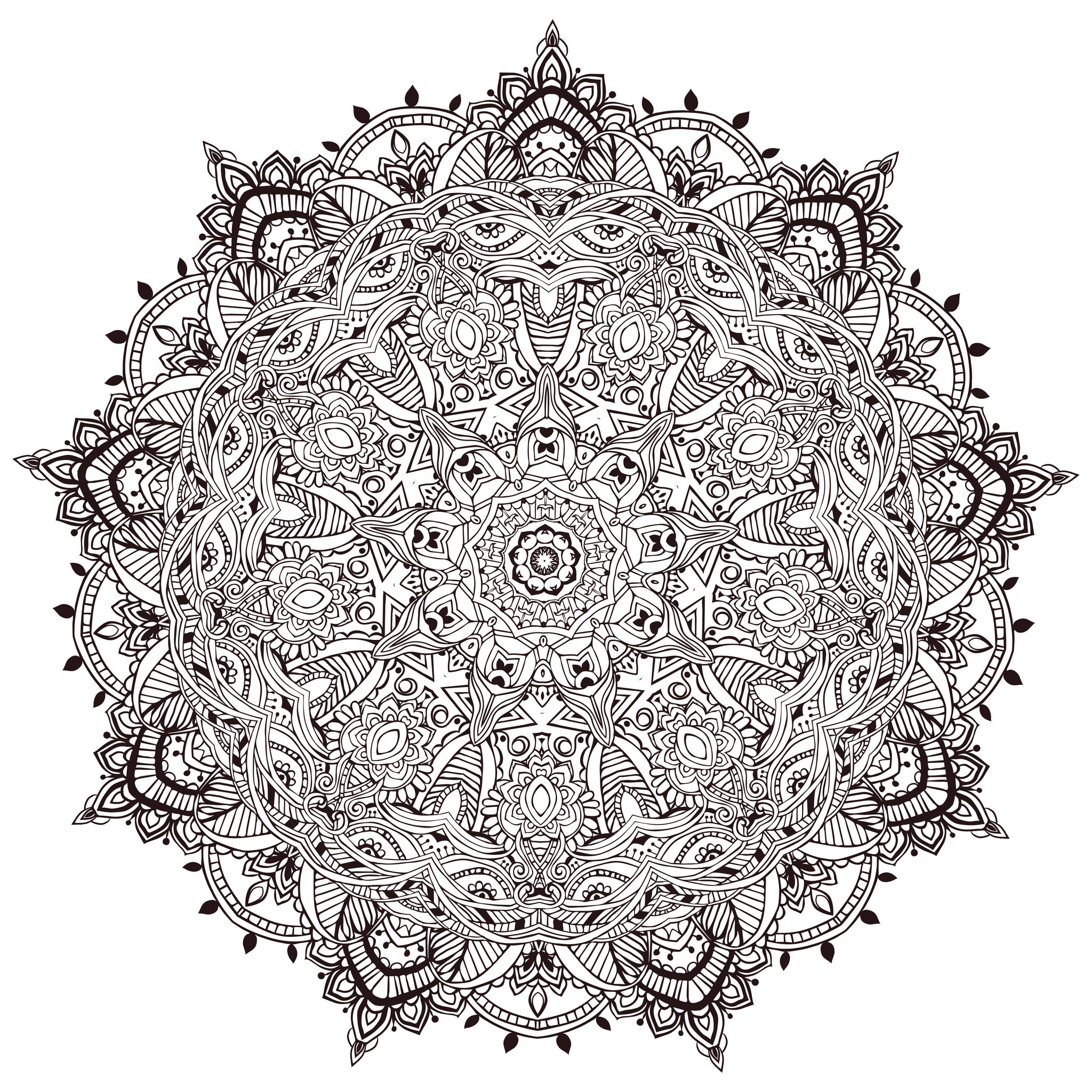 very detailled mandala by anvino mandalas coloring pages for