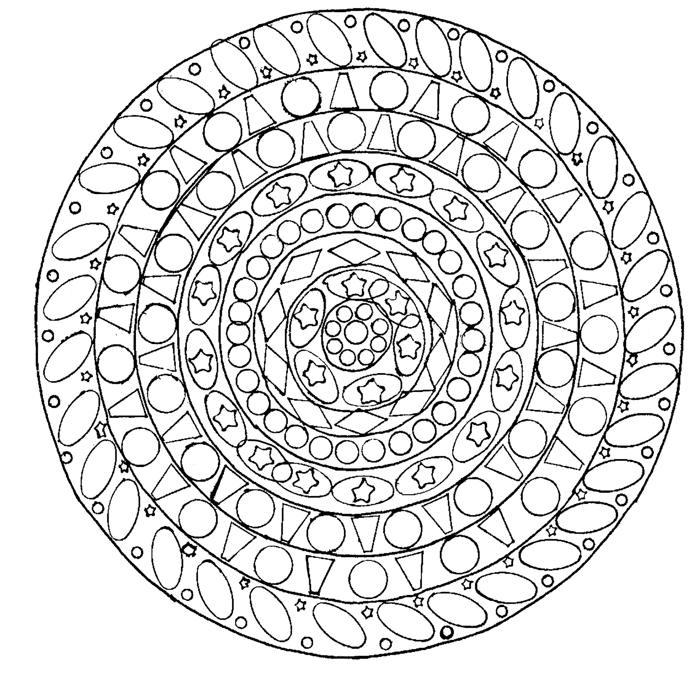 geometric mandala domandalas coloring pages for adults justcolor