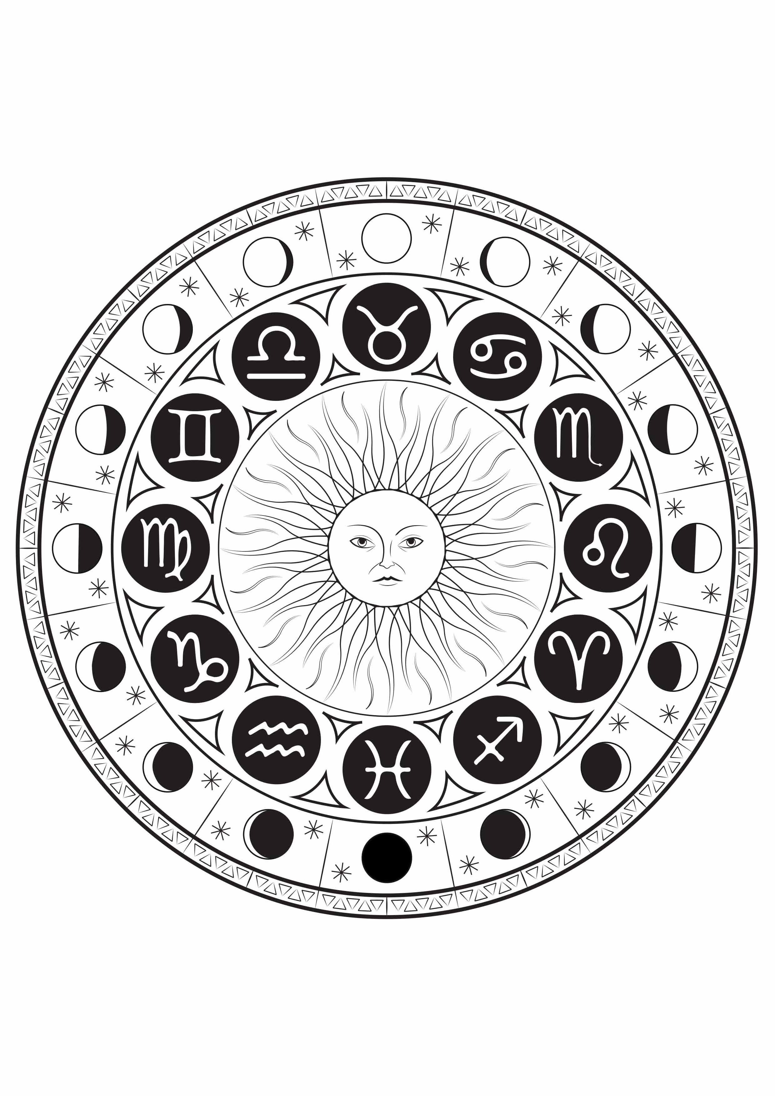 Astrological signs mandala M amp alas