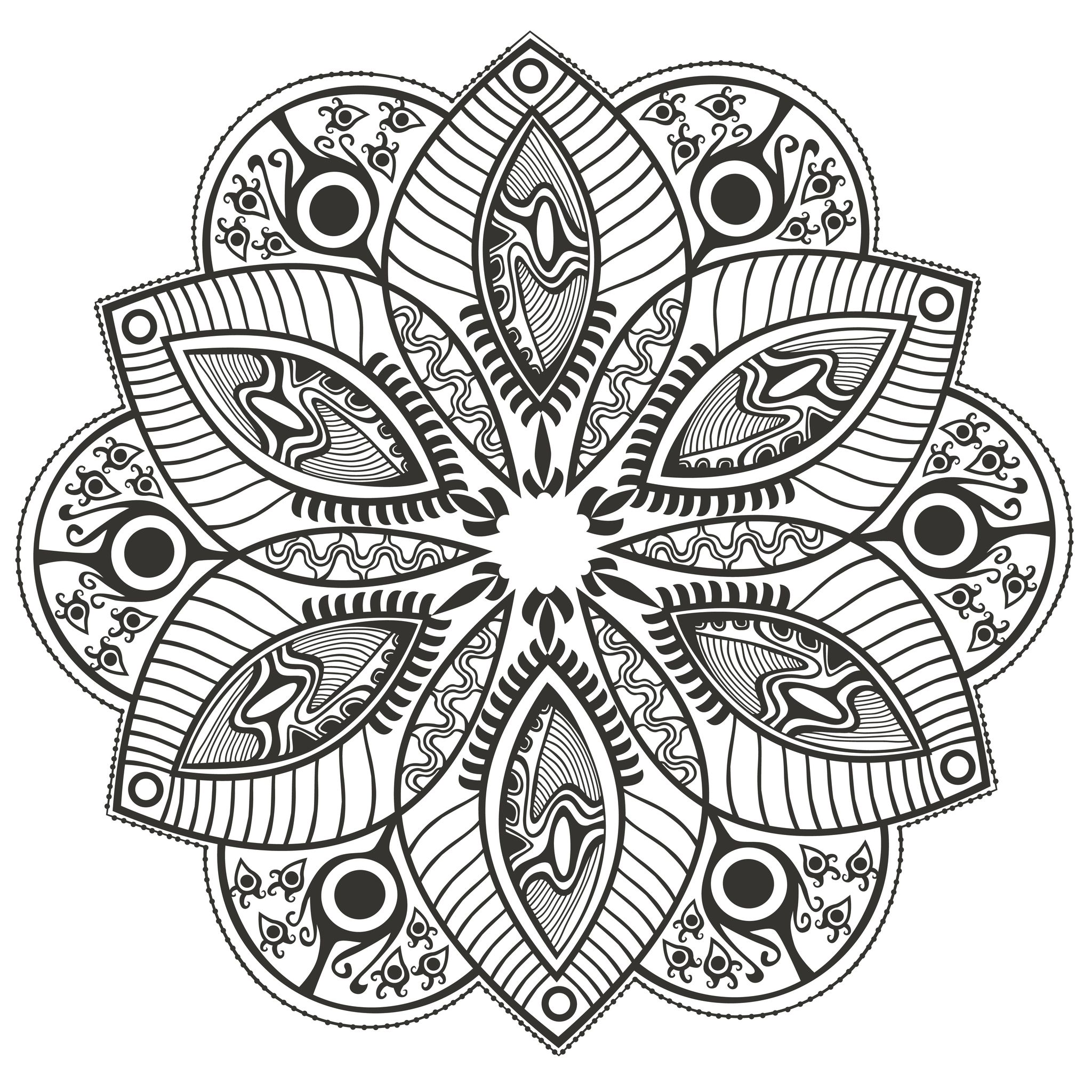 Mandala Original Flower