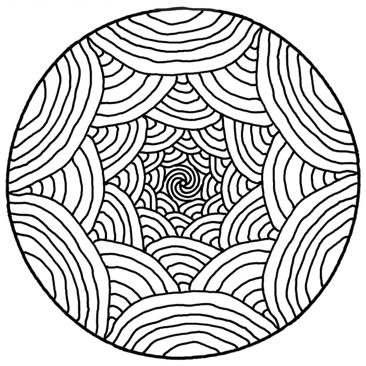 mandala simple rainbows mandalas coloring pages for adults