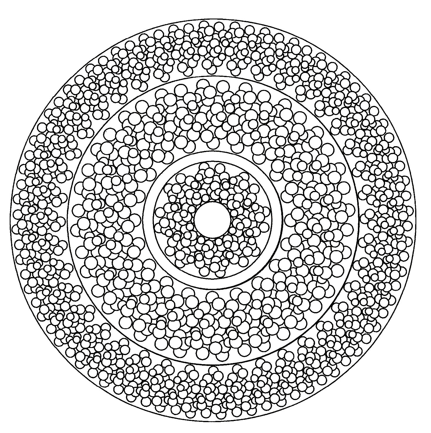 Colouring in pages mandala - Coloring Page Simple Mandala 3
