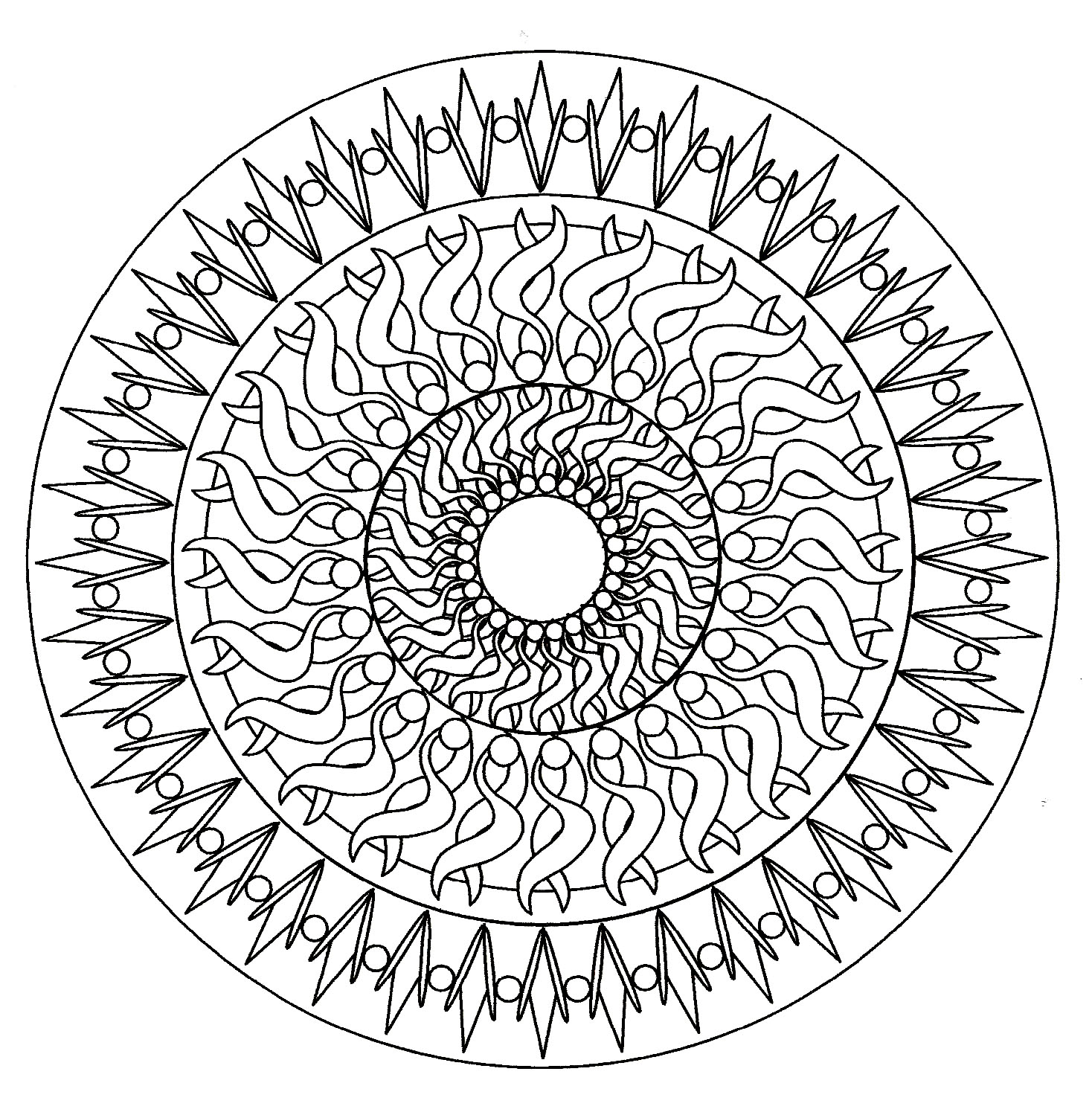 simple mandala 6 mandalas coloring pages for adults justcolor