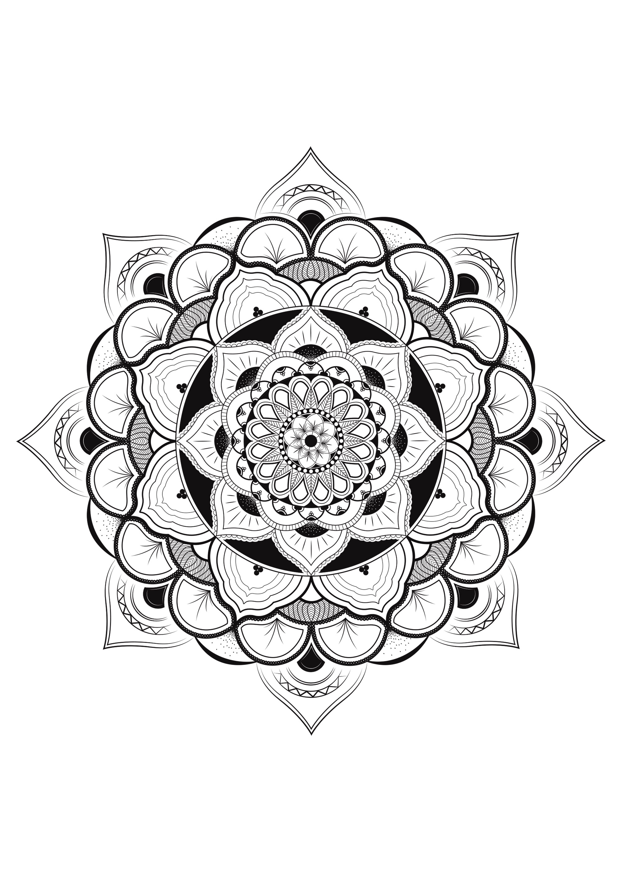Pretty mandala with lot of details