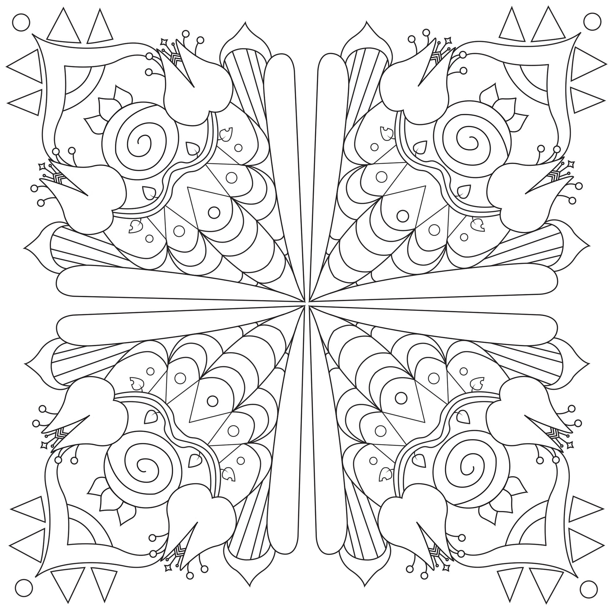 Mandala with abstract patterns