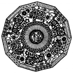 coloring mandala chinese inspiration