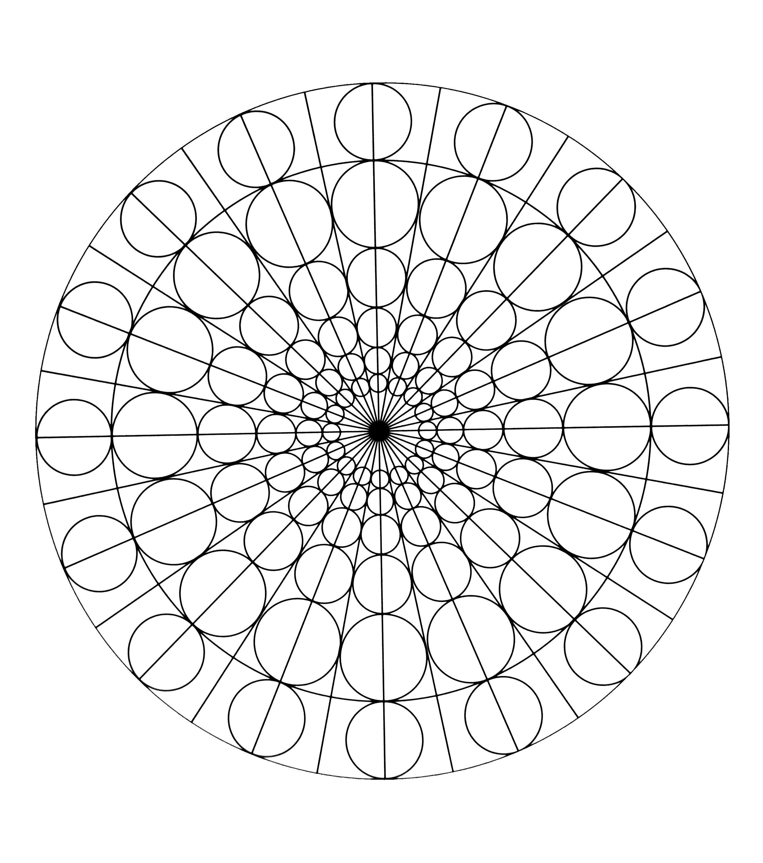 Free mandala to color circles