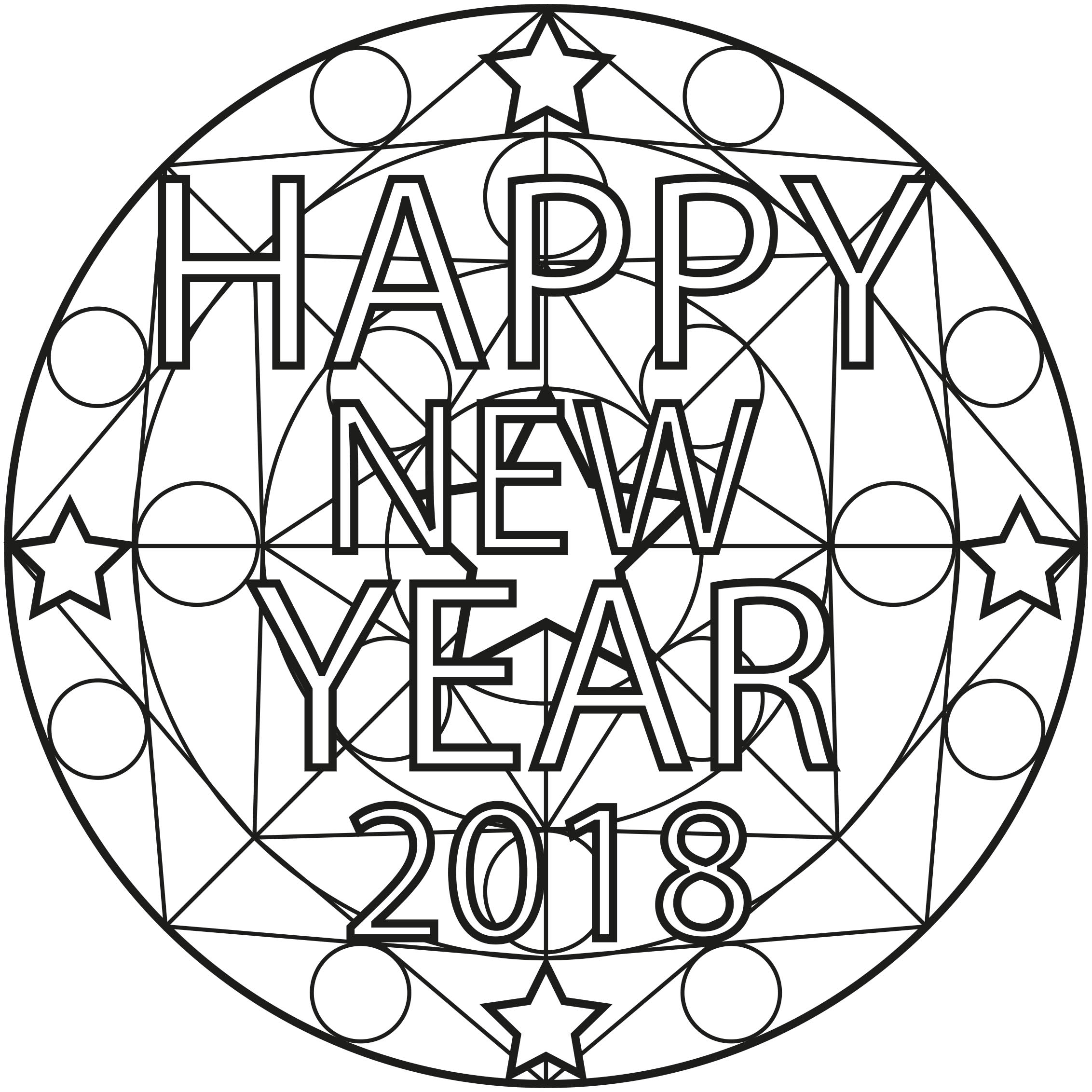 2018 is coming celebrate it by colouring this Mandala
