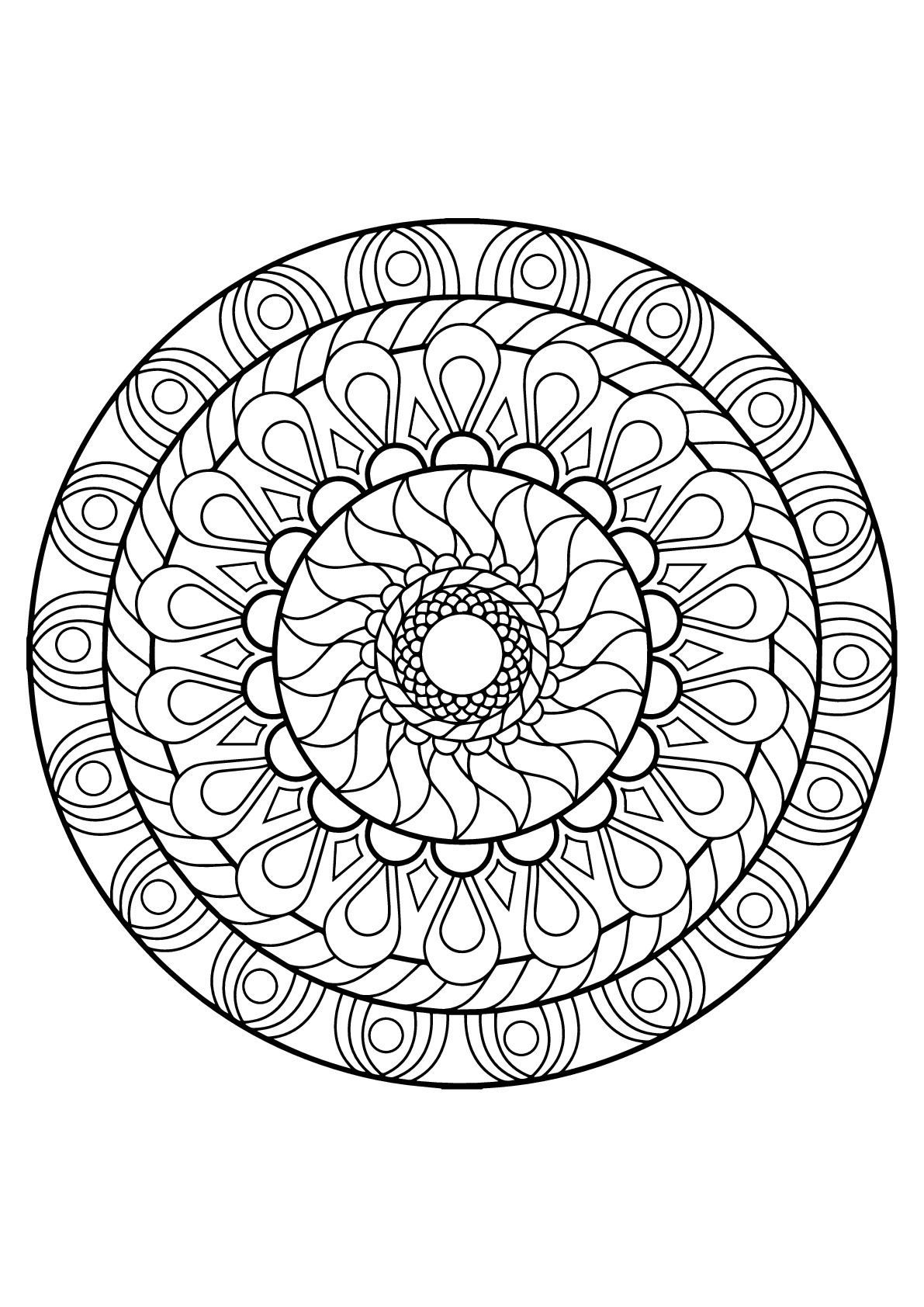 Mandala From Free Coloring Books For Adults 12 Mandalas Coloring Pages For Kids To Print Color