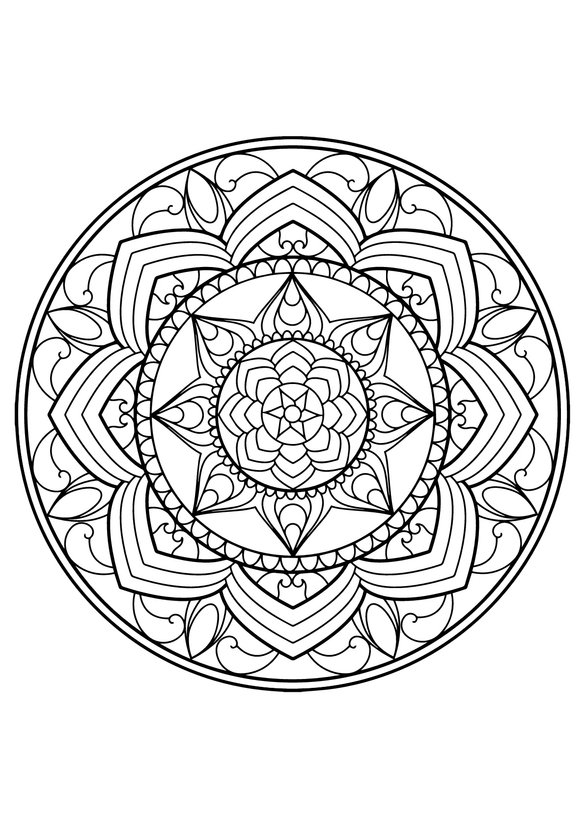 mandala from free coloring books for adults 13 m alas adult coloring pages. Black Bedroom Furniture Sets. Home Design Ideas