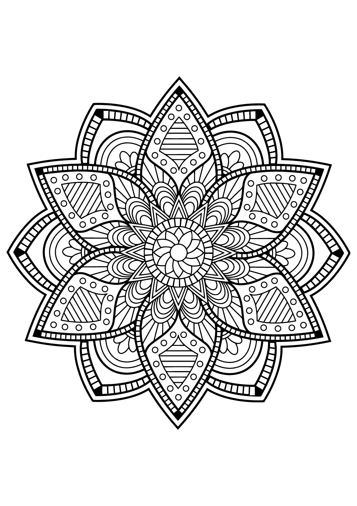 Mandala From Free Coloring Books For Adults 24 M Alas Adult
