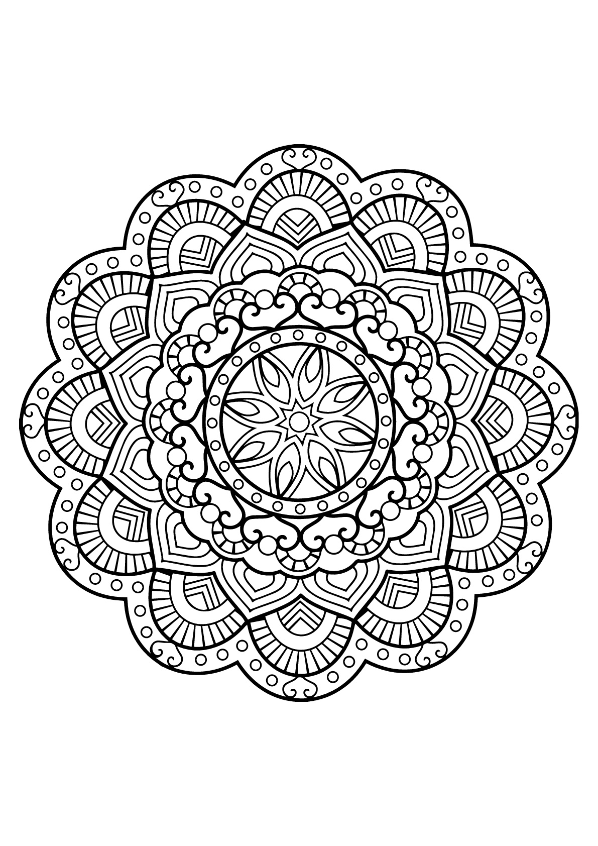 Mandala from Free Coloring book for adults