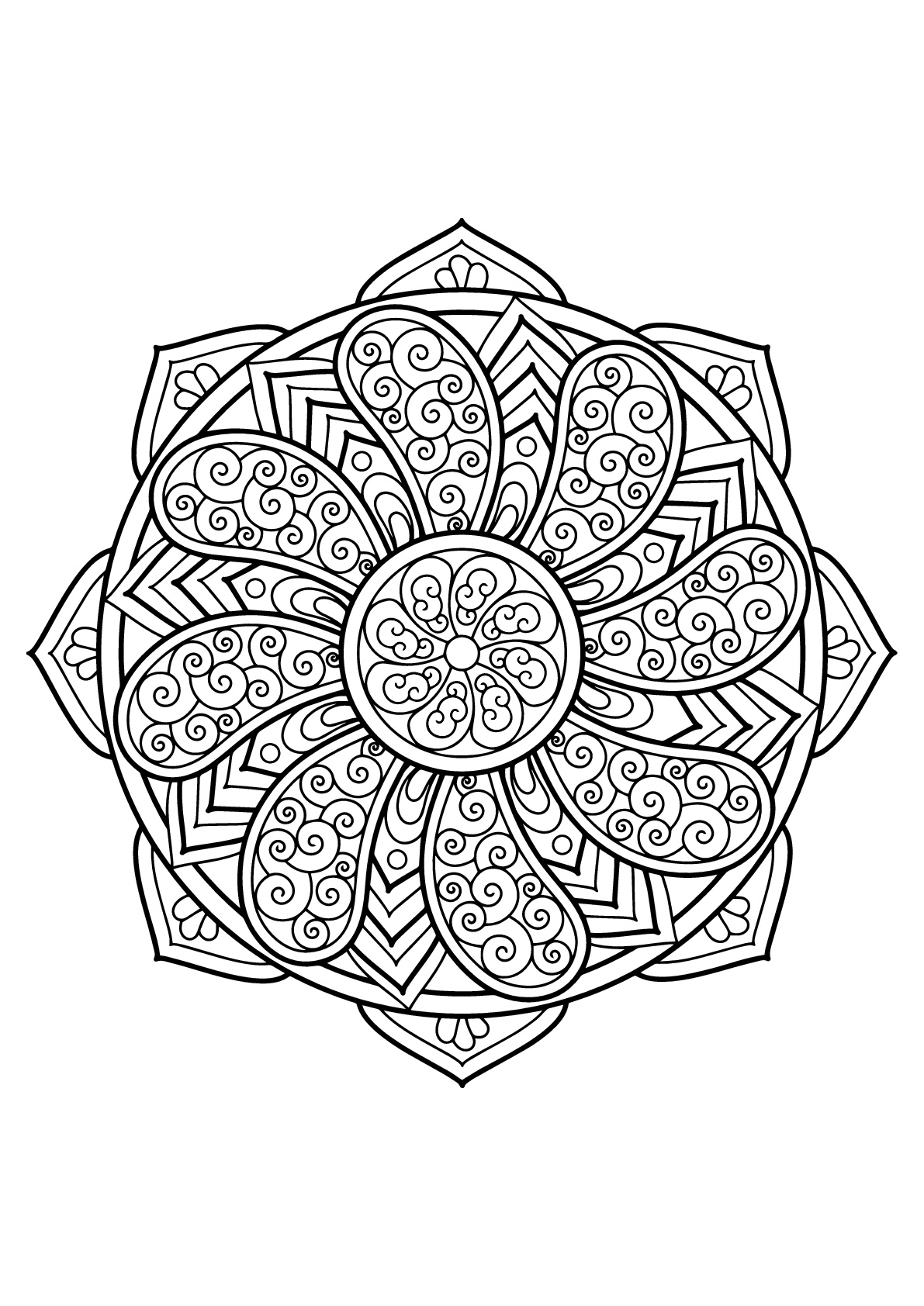 Mandala From Free Coloring Books For Adults 27