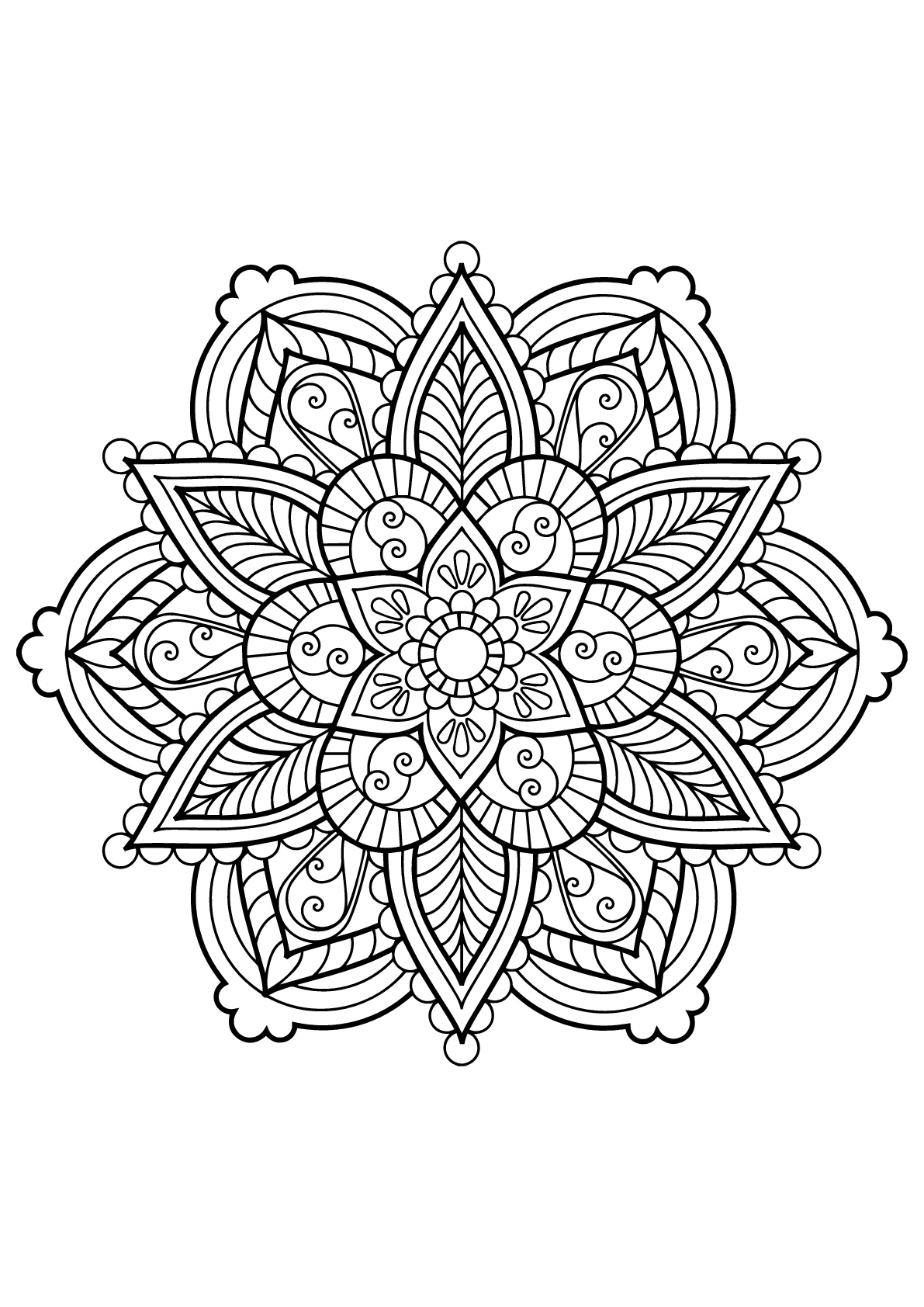 Mandala From Free Coloring Books For Adults 28