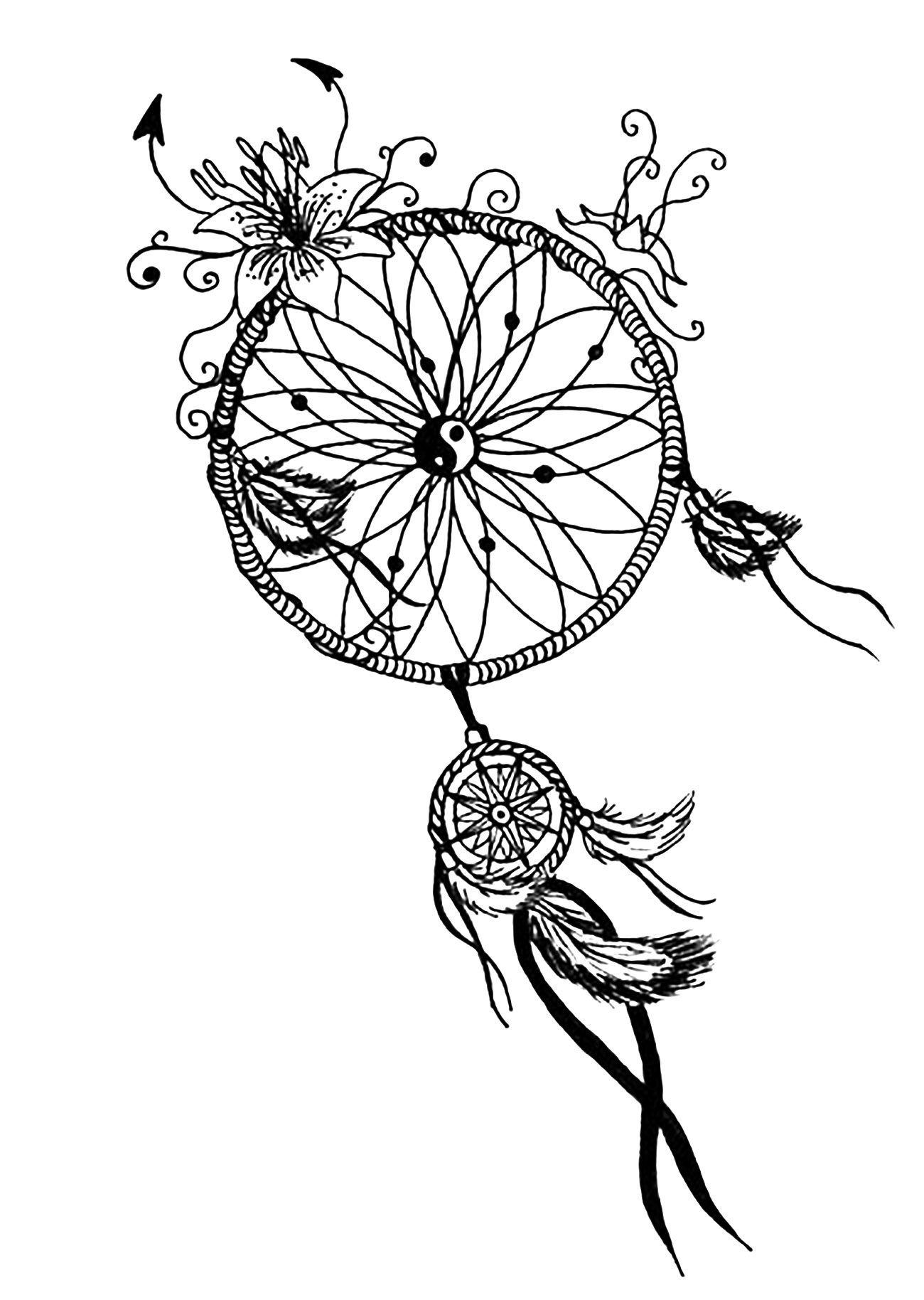 Mandala to download free dreamcatcher