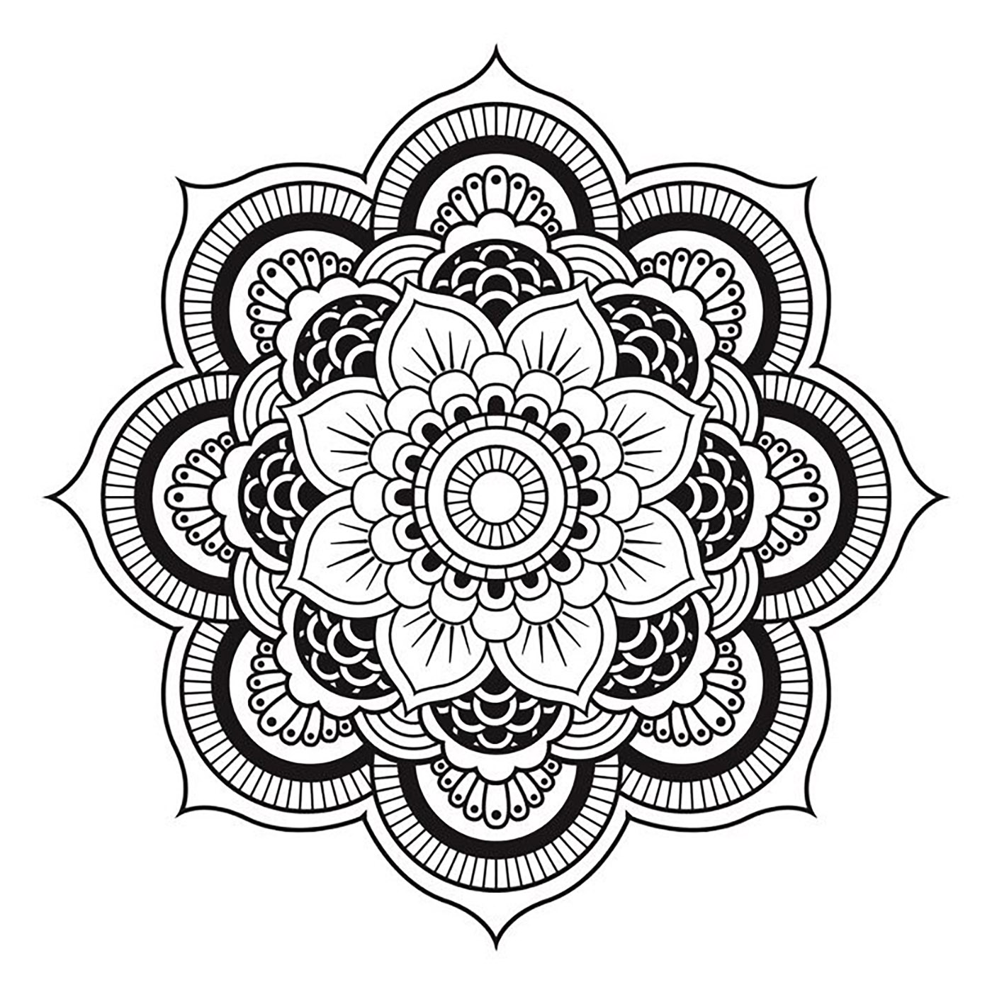 Mandala to download free simple flower M alas Adult