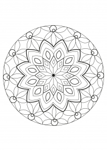 Coloring page adults mandala Celine