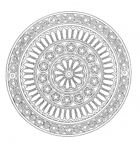 Coloring mandala adult 1