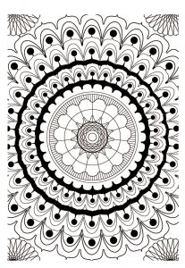 Coloring mandala adult 2