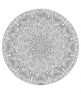 Labyrinth and celtic Mandala