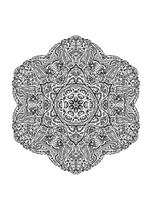 Complex and curious Mandala