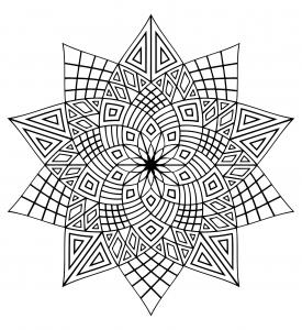 Coloring mandala difficile 3