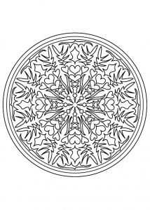 Coloring mandala difficile 9