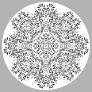 Coloring adult mandala by karakotsya 1
