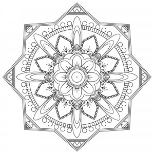 Coloring adult mandala mpc design 1