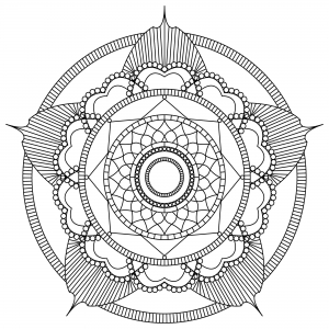 Coloring adult mandala mpc design 2