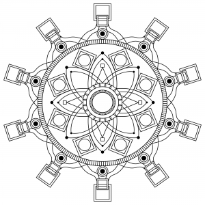 Coloring adult mandala mpc design 3