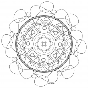 Coloring adult mandala mpc design 6