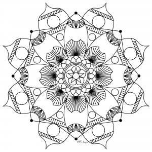 Coloring adult mandala mpc design 7