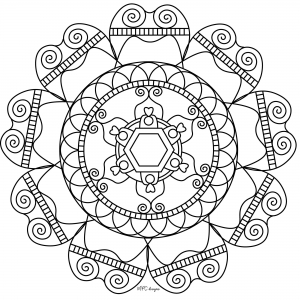 Coloring adult mandala mpc design 8