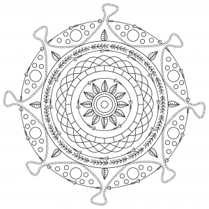 Coloring adult mandala mpc design 9