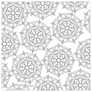 Coloring adult multiple  mandalas mpc design