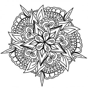 Awesome hand drawn Mandala