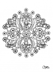 Coloring free mandala difficult for adult to print : 15