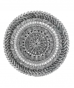 Coloring free mandala difficult for adult to print : 2