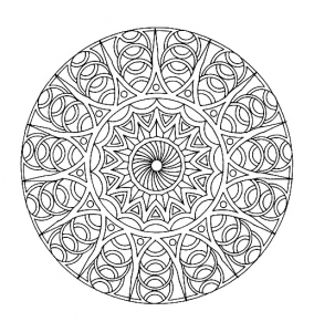 Coloring free mandala difficult for adult to print : 8