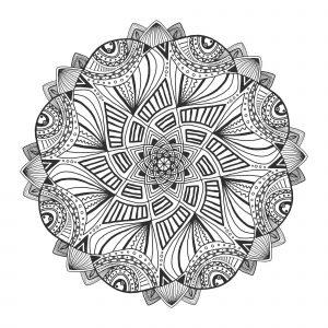 Ornamental floral mandala